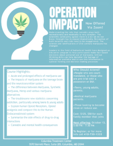 Operation Impact (Flyer), Columbia Treatment Center